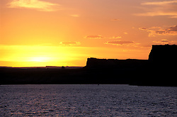 AZ, Arizona Lake Powell, near Grand Canyon National Park, scenic, sunset, Utah border in background  .Photo Copyright: Lee Foster, lee@fostertravel.com, www.fostertravel.com, (510) 549-2202.Image: azlkpo218