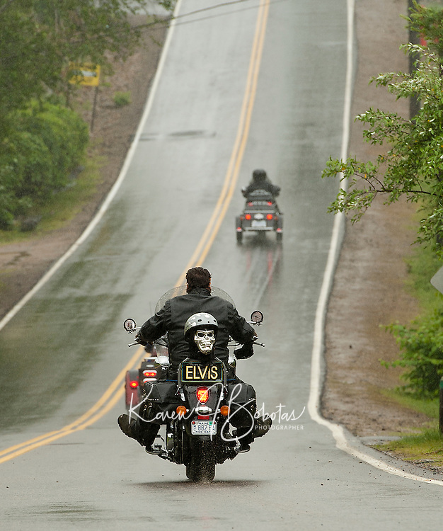 "Not quite as ""smooth"" as ELVIS but Scenic Road to Watson Road heading north from Weirs Blvd gives motorcyclists a smoother ride after being newly paved by the city of Laconia.   (Karen Bobotas/for the Laconia Daily Sun)"