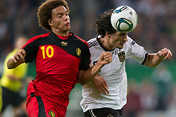 11.10.2011, Esprit Arena, Duesseldorf, GER, UEFA EURO 2012 Qualifikation, Deutschland (GER) vs Belgien (BEL), im Bild Zweikampf Axel Witsel (#10 BEL) und Mats Hummels (#5 GER, Borussia Dortmund) // during the UEFA Euro 2012 qualifying round Germany vs Belgium  at Esprit Arena, Duesseldorf 2011-10-11 EXPA Pictures © 2011, PhotoCredit: EXPA/ nph/  Kurth       ****** out of GER / CRO  / BEL ******