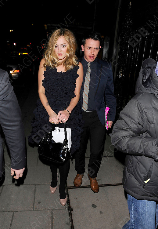 03.MARCH.2011. LONDON<br /> <br /> RADIO 1 PRESENTER FEARNE COTTON LEAVING THE GLAMOUR MAGAZINE 10TH ANNIVERSARY DINNER AT CLARIDGES HOTEL BALLROOM IN LONDON<br /> <br /> BYLINE: EDBIMAGEARCHIVE.COM<br /> <br /> *THIS IMAGE IS STRICTLY FOR UK NEWSPAPERS AND MAGAZINES ONLY*<br /> *FOR WORLD WIDE SALES AND WEB USE PLEASE CONTACT EDBIMAGEARCHIVE - 0208 954 5968*