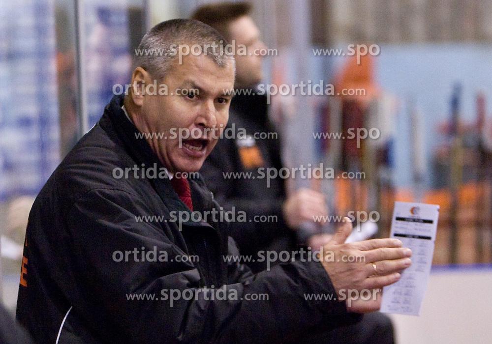 Coach of Jesenice Ildar Rahmatullin at 14th Round of EBEL league  ice hockey match between HK Acroni Jesenice and HDD Tilia Olimpija Ljubljana, on October 16, 2009, in Arena Podmezakla, Jesenice. Acroni Jesenice won 7:5. (Photo by Vid Ponikvar / Sportida)