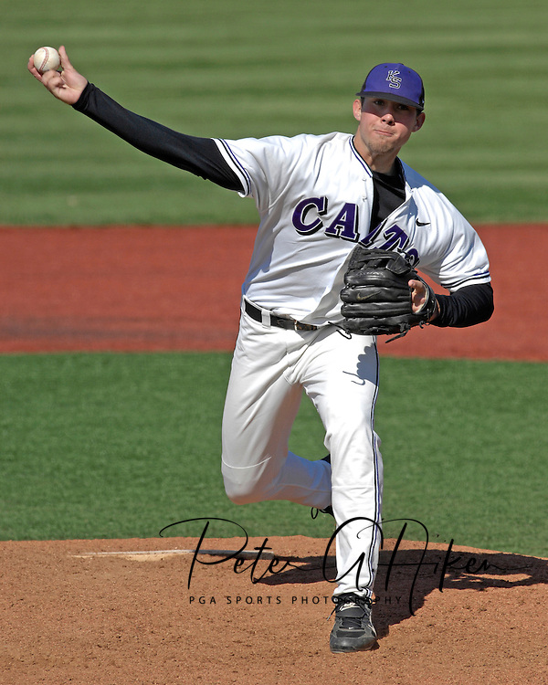 Kansas State pitcher Trevor Hurley pitched 2.2 innings in relief against Missouri at Tointon Stadium in  Manhattan, Kansas, April 7, 2007.  Kansas State lost to Missouri 3-0.