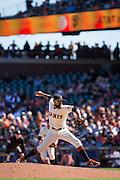 San Francisco Giants relief pitcher Sergio Romo (54) works the mound against the Arizona Diamondbacks at AT&T Park in San Francisco, Calif., on August 31, 2016. (Stan Olszewski/Special to S.F. Examiner)