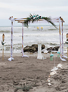 The gazebo for the wedding of Katie Richmond and Ty Livingston in Jupiter, Florida, on January 20, 2018.