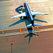 Aerial photograph of US Airways, San Diego Airport