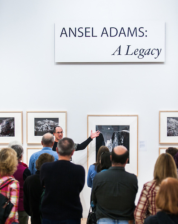 """Kenton Rowe talking about Ansel Adams """"Moon and Half Dome"""" during a 2013  lecture at the Holter Museum of Art in Helena, MT"""