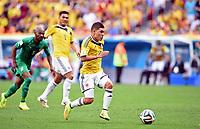 2:0 Tor Juan Quintero (Kolumbien)<br /> Fussball, FIFA WM 2014 Vorrunde, <br /> Colombia - Elfenbenskysten<br /> Norway only