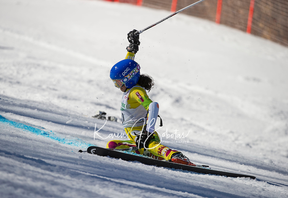 Piches Invitational U12 ladies Giant Slalom with Gunstock Ski Club.  ©2016 Karen Bobotas Photographer