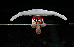Canada's Rene Cournoyer on the Horizontal Bar in the Men's Individual All-Round Final at the Coomera Indoor Sports Centre during day three of the 2018 Commonwealth Games in the Gold Coast, Australia.