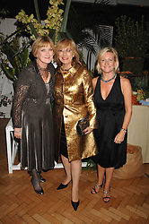 Left to right, SUE CREWE editor of House & Garden, NINA CAMPBELL and CLAIRE GERMAN publisher of House & Garden at a party to celebrate the 60th anniversary of House & Garden magazine held at Bonhams, 101 New Bond Street, London on 4th October 2007.<br /><br />NON EXCLUSIVE - WORLD RIGHTS