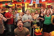 Australia v Ghana at Richmix, Shoreditch.<br /> <br /> <br /> Copyright: Jonathan GoldbergWorld Cup 2010 watched  on London TV<br /> Australia v Ghana at Bar Kick, Shoreditch