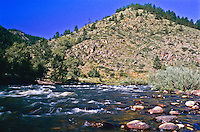 Cache la Poudre River. In 1986 the river became the first river in Colorado to be protected by the National Wild & Scenic Rivers Act.  Colorado, USA.