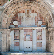 Sebil Abu Nabut drinking trough for travellers from and to Jaffa - Erected in 1820 built with Kurkar and marble