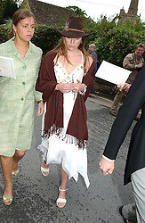JESSICA CRAIG (with hat) at the wedding of Hugh van Cutsem to Rose Astor in Burford, Oxfordshire on 4th June 2005.<br /><br />NON EXCLUSIVE - WORLD RIGHTS