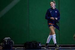 30-03-2018 NED: Nederland - Wit Rusland, Arnhem<br /> De Nederlandse volleybal meisjes jeugd spelen hun eerste oefeninterland op Papendal in Arnhem tegen Wit Rusland en wonnen met 3-0 / Anna Zijl #10