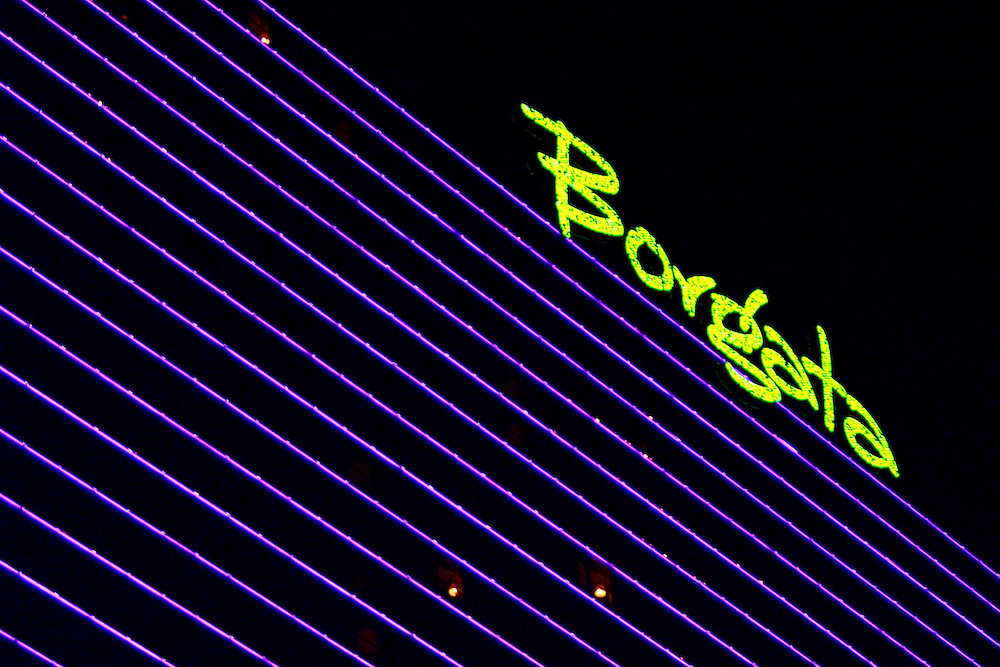 (PFEATURES) Atlantic City 10/23/2003  Exterior sign of the Borgata Hotel and Casino.  Michael J. Treola Staff Photographer....MJT
