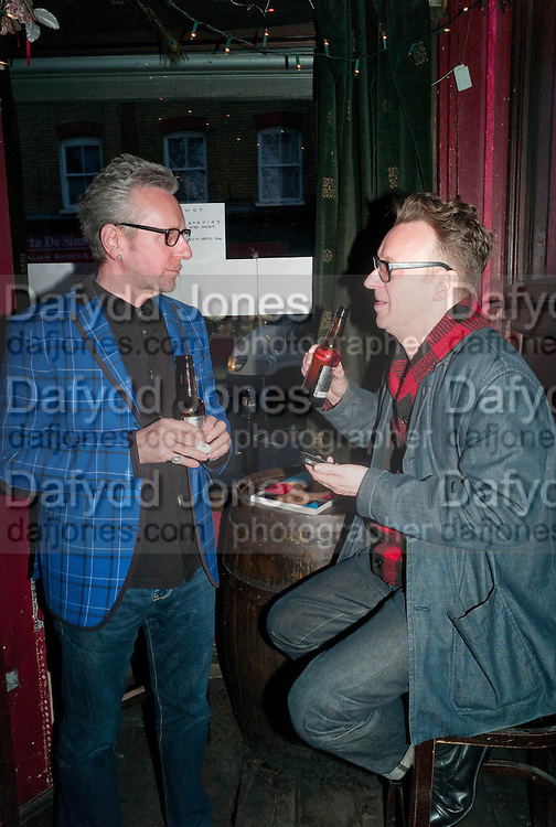 BRYAN WILKINS; NATHAN WILKINS;  Ponystep - issue 3 launch party, George and Dragon, 2-4 Hackney Road, London, E2.  April 5 2012.