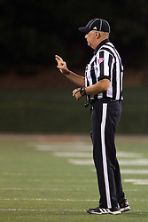 27 September 2014:  Line judge: Patrick Brown during an NCAA football game between the Austin Peay Governors and the Illinois State Redbirds at Hancock Stadium in Normal IL