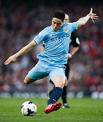 Man City Midfielder Samir Nasri (FRA) shoots - Photo mandatory by-line: Rogan Thomson/JMP - 07966 386802 - 29/03/14 - SPORT - FOOTBALL - Emirates Stadium, London - Arsenal v Manchester City - Barclays Premier League.