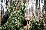 Satriano di Lucania, Basilicata, Italia, 07/02/2016<br /> Un Rumit pronto a sfilare per le vie di Satriano di Lucania.<br /> <br /> Satriano di Lucania, Basilicata, Italy, 07/02/2016<br /> A Rumita (hermits) ready for parading in Satriano di Lucania