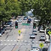 Looking east across 63rd Street at Wornall Road, Kansas City, Missouri. Taken for Rhythm Engineering.