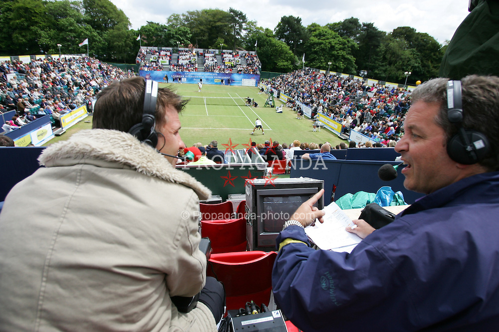 LIVERPOOL, ENGLAND - SUNDAY, JUNE 12th, 2005: Sky Sports cover the Final of the Liverbird Developments Liverpool International Tennis Tournament in Calderstones Park. (Pic by David Rawcliffe/Propaganda)