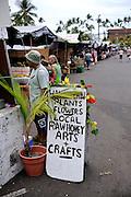 Local fresh-food market, Kailua-Kona, Big Island, Hawaii