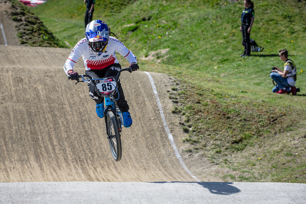 #85 (HATAKEYAMA Sae) JPN during practice of Round 3 at the 2018 UCI BMX Superscross World Cup in Papendal, The Netherlands