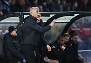 Northampton manager Keith Curle gestures during the EFL Sky Bet League 2 match between Salford City and Northampton Town at the Peninsula Stadium, Salford, United Kingdom on 11 January 2020.