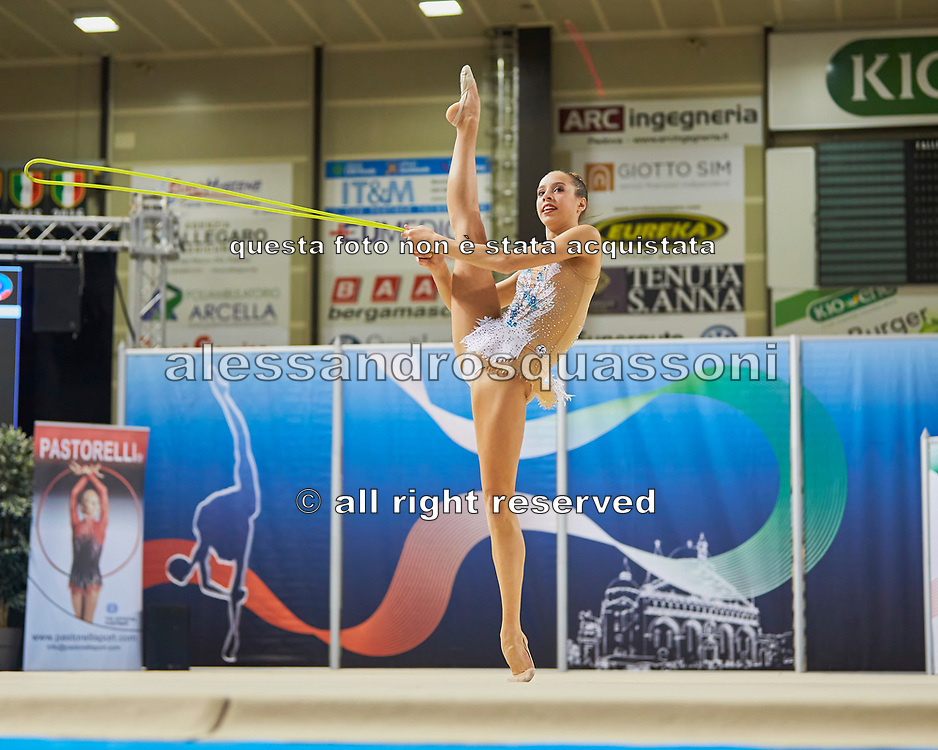 Chiara Ferri from Nervianese team during the Italian Rhythmic Gymnastics Championship in Padova, 25 November 2017.
