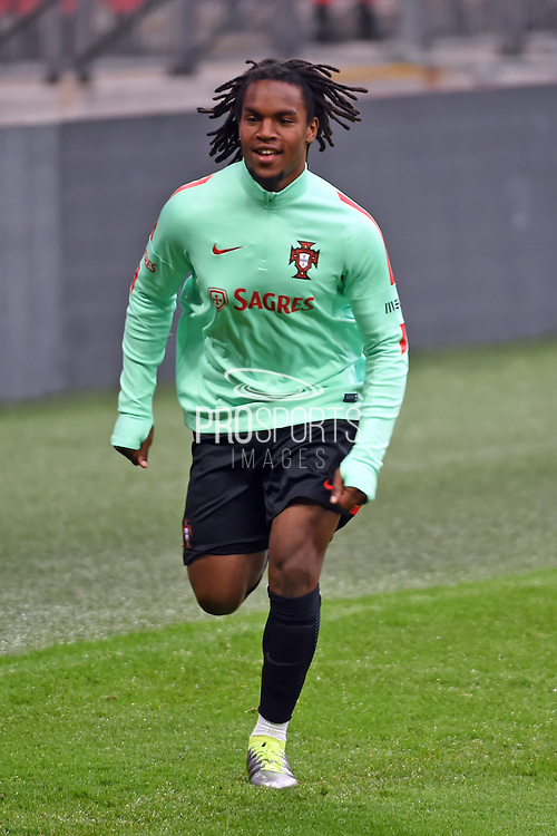Renato Sanches during the Portugal training session at Wembley Stadium, London, England on 1 June 2016. Photo by Jon Bromley.