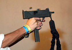12 July 2012. Southern Louisiana,  USA. .Firearms in America. A 9mm Ingram M10A1, otherwise known as a 'Mac-10' machine pistol in semi automatic. The weapon was at one time a favourite weapon of choice for the Secret Service..Photo; Charlie Varley.