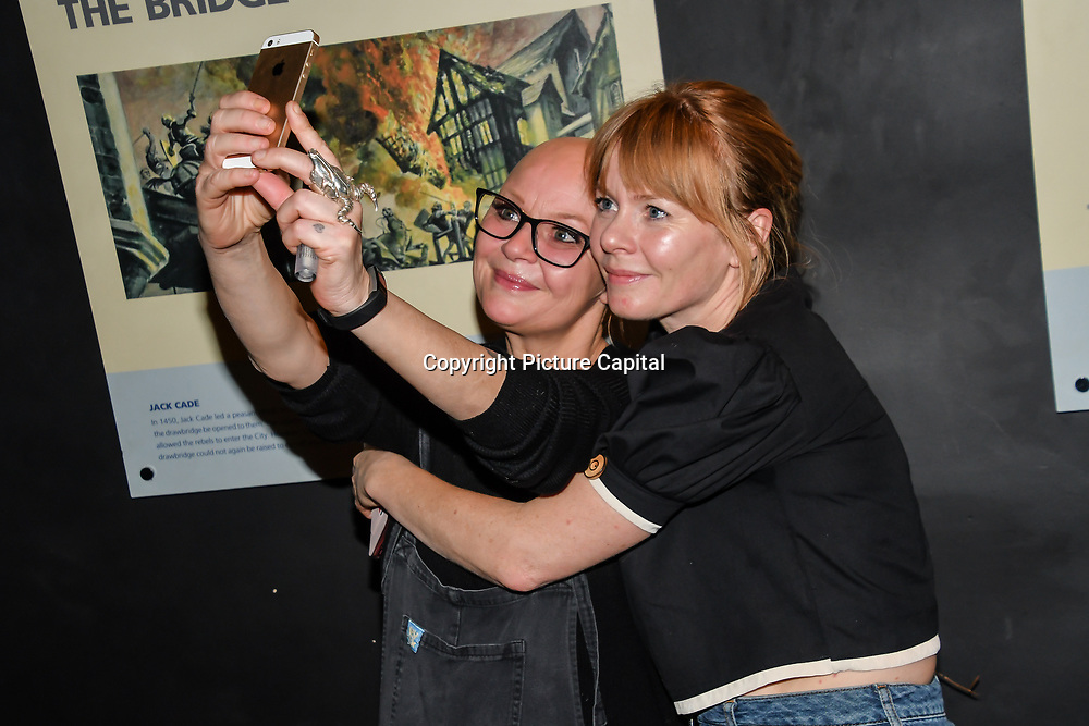 Gail Porter and Emma attend Press night an halloween experience at  London Tombs at The London Bridge Experience, UK. 18 October 2018.