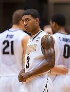 WEST LAFAYETTE, IN - JANUARY 13: Ronnie Johnson #3 of the Purdue Boilermakers looks down court during the game against the Penn State Nittany Lions at Mackey Arena on January 13, 2013 in West Lafayette, Indiana. (Photo by Michael Hickey/Getty Images) *** Local Caption *** Ronnie Johnson