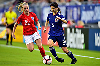 International Women's Friendly Matchs 2019 / <br /> SheBelieves Cup Tournament 2019 - <br /> Japan vs England 0-3 ( Raymond James Stadium - Tampa-FL,Usa ) - <br /> Aya Sameshima of Japan (R) ,challenges with Bethany Jane Mead of England (L)