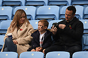 A Family of Wasps Supporters during the Gallagher Premiership Rugby match between Wasps and Bath Rugby at the Ricoh Arena, Coventry, England on 2 November 2019.