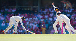 Australia's Usman Khawaja is stumped by England's Jonny Bairstow during day two of the Ashes Test match at Sydney Cricket Ground.