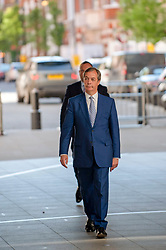 Nigel Farage leader of the Brexit Party arriving at the BBC in London before appearing on the Andrew Marr show. <br /> <br /> Richard Hancox   EEm 12052019