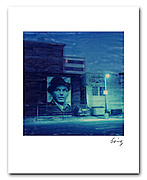 8x10 archival pigment print of Frank Sinatra Mural , Hollywood 2005. Free shipping USA