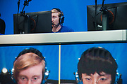 BURBANK, CA - Lucas Meissner, also known by the in-game name NotE, of the Boston Uprising competes for the Stage 3 title of the Overwatch League at the Blizzard Arena in Burbank, California, May 6, 2018. The Uprising lost to the New York Excelsior after going undefeated in Stage 3 of the League's inaugural season. REUTERS/Andrew Cullen