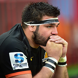 Johannesburg, SOUTH AFRICA, 21, MAY 2016 - during the Super Rugby match between Emirates Lions vs Jaguares ,Emirates Airlines Park,Johannesburg. Santiago García Botta of the Jaguares. <br /> <br /> South Africa. (Photographer Christiaan Kotze ) -- (Steve Haag Sports) <br /> <br /> Images for social media must have consent from Steve Haag