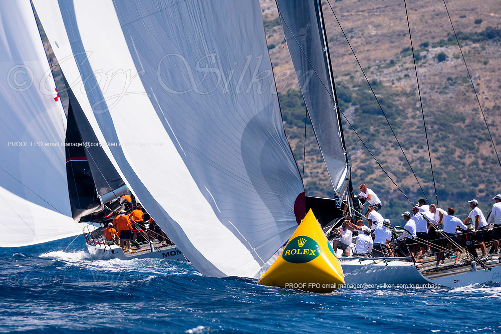 Cannonball sailing in the  Corfu Challenge, day four.