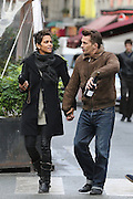 27.DECEMBER.2012. PARIS<br /> <br /> OLIVIER MARTINEZ AND HALLE BERRY ARE STILL IN LOVE AS THEY STROLL THE STREETS OF PARIS, FRANCE ON DECEMBER 27, 2012. THEY LUNCHED TOGETHER AT 'LA PALETTE' RESTAURANT LOCATED IN THE FAMOUS AREA OF SAINT GERMAIN DES PRES. OLIVIER LEFT THE RESTAURANT WITH A BOTTLE OF RED BURGUNDY WINE IN HIS HAND. <br /> <br /> BYLINE: EDBIMAGEARCHIVE.CO.UK<br /> <br /> *THIS IMAGE IS STRICTLY FOR UK NEWSPAPERS AND MAGAZINES ONLY*<br /> *FOR WORLD WIDE SALES AND WEB USE PLEASE CONTACT EDBIMAGEARCHIVE - 0208 954 5968*
