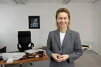 12 DEC 2005, BERLIN/GERMANY:<br /> Ursula von der Leyen, CDU, Bundesfamilienministerin, in ihrem Buero, Bundesministerium fuer Familie, Senioren, Frauen, und Jugend<br /> Ursula von der Leyen, Federal Minister for family, Seniors, Women and Youth, in her office<br /> IMAGE: 20051212-01-054<br /> KEYWORDS: Büro