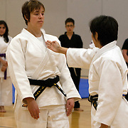 The 2012 Pacific Association of Women Martial Artists' annual summer camp featured an evening with Keiko Fukuda Shihan. Fukuda Shihan, a 10th Dan, and a renowned pioneer of women's judo, is the highest ranked female judo practitioner in history and the last surviving student of Kano Jigoro, founder of judo.<br />
