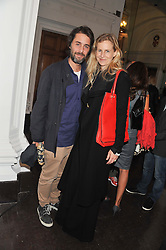 ALANNAH WESTON and her husband ALEXANDER SURSOCK COCHRANE at a party to celebrate the launch of the new gallery Pace at 6 Burlington Gardens, London on 3rd October 2012.
