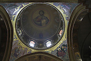 Israel Jerusalem Religious art work on the ceiling of the church of the holy sepulchre
