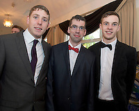 Colm Bushell, GMIT, Alan  Keady, Galway and John Murphy GMIT at the Ability West Best Buddy Ball and award night at the Menlo Park Hotel Galway. Photo:Andrew Downes.