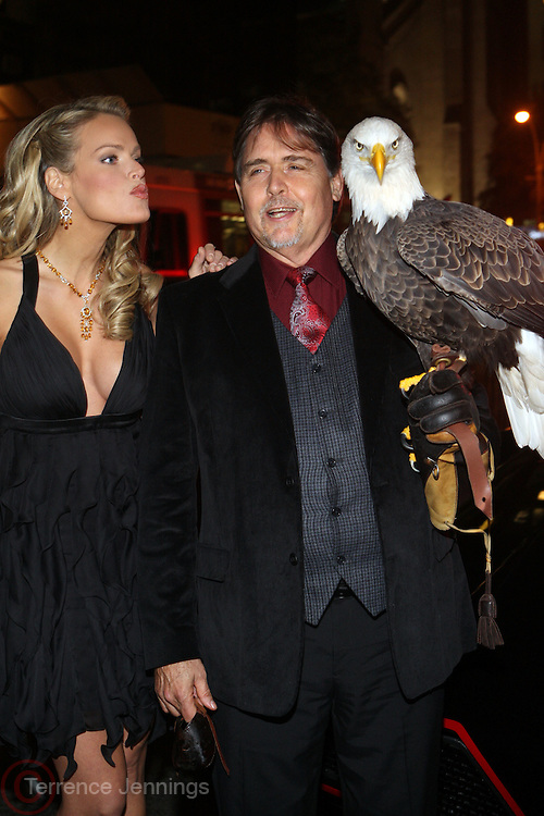 "l to r: Heidi Alberston and American Bald Eagle '' Challenger "" at The Life Project for Africa Benefit for the NJIA Health Center in Tanzania, Africa and held at Ben and Jack's Restaurant on November 10, 2009 in New York City"