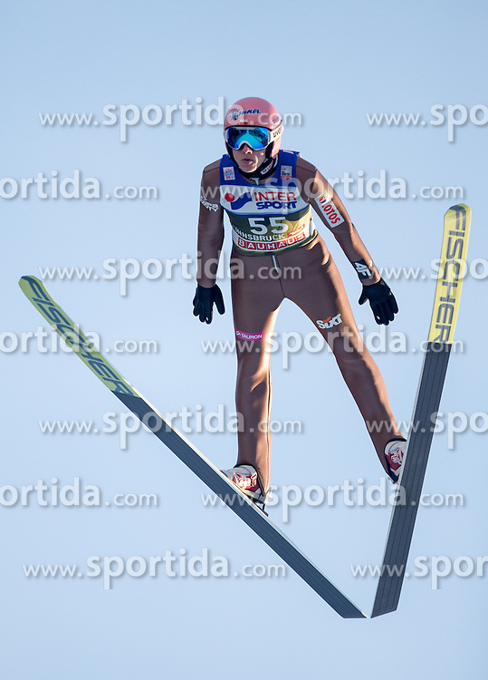 03.01.2017, Bergiselschanze, Innsbruck, AUT, FIS Weltcup Ski Sprung, Vierschanzentournee, Innsbruck, Qualifikation, im Bild Dawid Kubacki (POL) // Dawid Kubacki of Poland during his Qualification Jump for the Four Hills Tournament of FIS Ski Jumping World Cup at the Bergiselschanze in Innsbruck, Austria on 2017/01/03. EXPA Pictures © 2017, PhotoCredit: EXPA/ Jakob Gruber